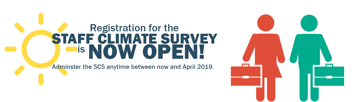 Staff Climate Survey SCS Registration Banner
