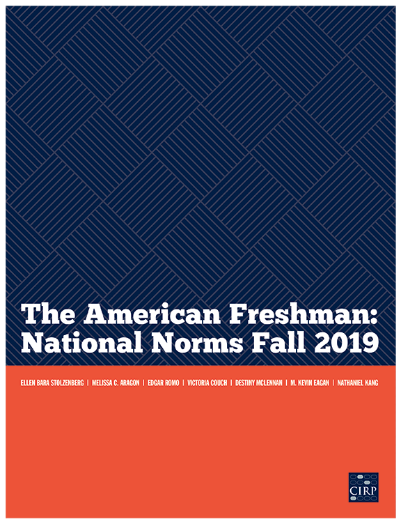 The American Freshman: National Norms Fall 2019